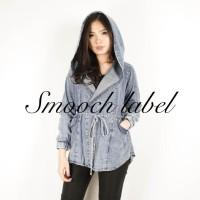 Jaket Wanita / Jacket -- Denim hoodie BEST SELLER Smoochlabel.