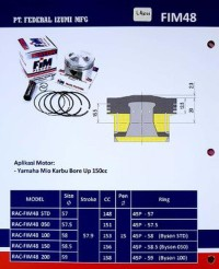 Piston Kit FIM Izumi Seri FIM48 XXB Untuk Yamaha Mio Bore Up 1 Limited