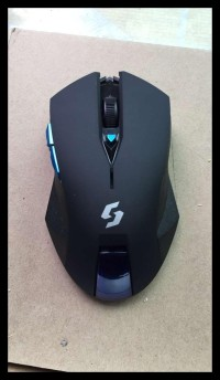 Mouse Wireless Gaming Nc-600 Black Edition Free Ongkir