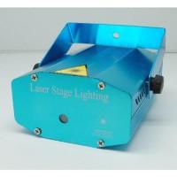 Mini Laser Stage Light Multicolor Projector & Tripod Terbaru Biru