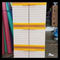 lemari plastik / lemari pakaian plastik ukuran MINI susun 5 CLUB