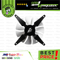 1STPLAYER SteamPunk 12CM Green LED Fan - Without Frame - PWM - Nano Ceramic Bearing - Garansi 5 Tahun