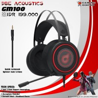 Headset Gaming dbE GM100 - dbE acoustics GM100 Gaming Headphone