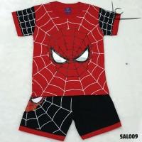 Setelan Baju Celana Anak Laki Superhero Murah 2 3 4 Tahun SAL009