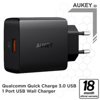 Aukey Charger 2 Ports 48 Watt + Power Delivery 2.0 USB Type-C Q.C 3.0