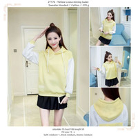 27176 - Yellow Loose mixing (sale) - Sweater Hooded