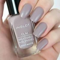 Inglot Soft Matte no 504 - Kutek Halal O2M Breathable Nail Polish