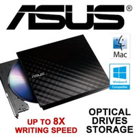 Asus 8X External Slim DVD+/-RW Drive Optical Drives box resmi