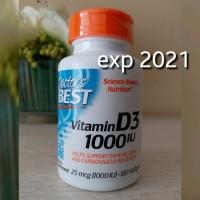 JUAL Doctor Doctors Best Vitamin Vit D3 D 3 1000IU 180 Softgels