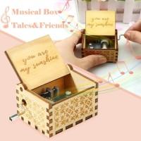 Kotak Musik You are My Sunshine Wooden Music Box Kotak Musik kayu