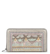 Sakroots Large Zip Around Wallet Pastel One World