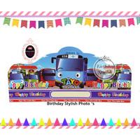 Topi Ulang Tahun Anak / Topi Pesta Ultah Tayo The Little Bus isi 10 PC