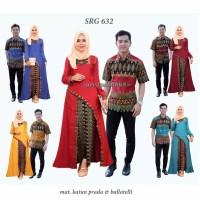 Baju couple motif batik kemeja pria gamis wanita muslimah premium