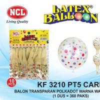 Balon Lempeng Latex Full Sablon 12 Inch Polkadot Transparan