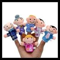 TERLENGKAP Set boneka jari keluarga mainan / Family Finger Puppet