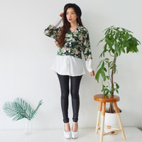 Chamele 2080 - TERBARU // Kemeja Crop Top Army Good Quality