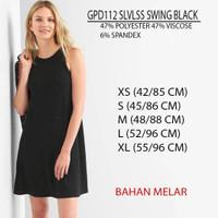 Dress Branded Wanita - GAP 112 SLVLSS SWING BLACK