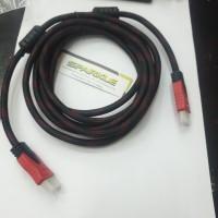 kabel cable Hdmi to Hdmi 3 meter bahan serat/ jaring