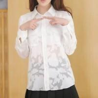 White Organza Pocket Shirt (size S,M,L) - 17572
