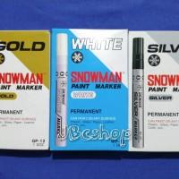 Spidol Snowman Permanent White, Silver & Gold