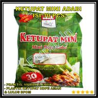 Rice Cube KETUPAT Bantal MINI LEBARAN ADABI Isi 30 Bungkus pcs PRAKTIS