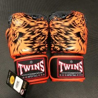 Sarung Tinju Twins Glove Motif 10Oz Orange Black