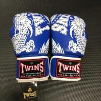 Sarung Tinju Twins Glove Motif 10 Oz Blue White