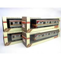 miniatur kereta api indonesia - KRL JABODETABEK JR 205 1 SET ISI 4