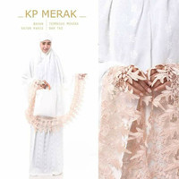 Mukena Putih Katun Paris Full Bordir
