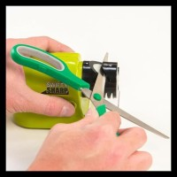 Swifty Sharp /Alat Pengasah Pisau Elektrik Otomatis/ Asah Pisau FREE