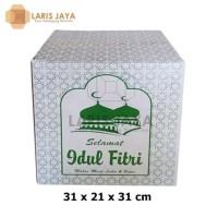 HOT SALE Kardus / Box Parcel Lebaran / Dus Idul Fitri Putih 31 x 21 x