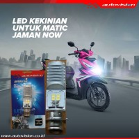 Lampu LED Motor AUTOVISION Honda Beat FI (putih) Bohlam RZ1 Grs 6bln