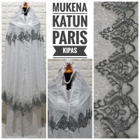 MUKENA KATUN PARIS FULL BORDIR RENDA KIPAS