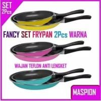 FANCY FRYPAN Wajan Teflon anti lengket 2 Set 23cm&18cm WARNA MURAH