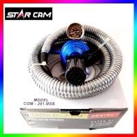 Regulator Gas LPG Tekanan Rendah Dengan Selang Starcam Destec 201 MSS