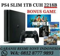 PS4 SLIM 500GB CUH 2106A BUNDLE FORTNITE GARANSI SONY