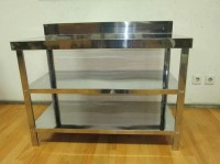 New Meja Dapur / Kompor Stainless Steel 3 Rak Serbaguna Metalco