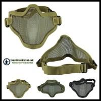 New Sale Masker Airsoft Mask Jaring Import Black & Tan