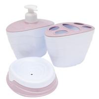 INFORMA-Set Perlengkapan Kamar Mandi-Tempat Sabun-Sikat gigi-pink