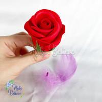 Bunga Mawar Sabun 4 layer + Tangkai Kawat Bunga 30cm [ISI 2 PCS]
