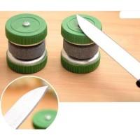 STOK TERBATAS Pengasah Pisau Model Roda Putar / Batu Pengasah / Asahan