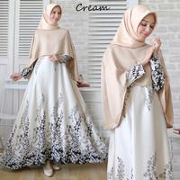 Gamis Dewasa Wanita / Gamis Muslim Terbaru / Maxi Dress Cape Freya