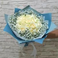 Buket Bunga Mawar Putih - Pure Love