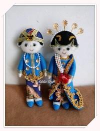 boneka pengantin bahan flanel