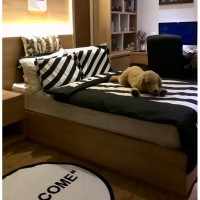 Hot Promo Bed Cover Atau Selimut Off White Stripe Black Single Bed