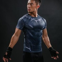 Terbaru Kaos Manset Baselayer Gym Under Armour Black Panther