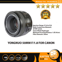 YONGNUO 50MM F/1.8 FOR CANON