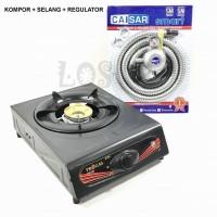 Kompor Gas 1 Tungku Progas selang regulator