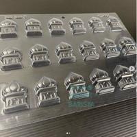 Cetakan coklat lebaran mesjid 140212 /cetakan puding lebaran