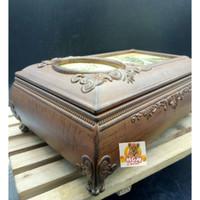 Kotak perhiasan Elegant motif Kayu Kotak musik Jewelry Music Box 11-4